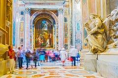St interior Peter Basilica em Roma, Itália Fotos de Stock