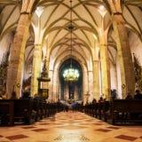 St interna Martin Cathedral a Bratislava Immagini Stock Libere da Diritti
