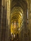 St interna Vitus Cathedral a Praga Immagine Stock Libera da Diritti