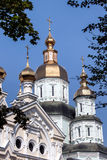 St. interventieklooster in Kharkiv, de Oekraïne Stock Foto