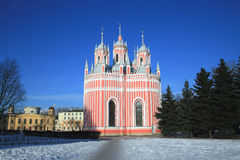 St. Ioann kerk in St. Petersburg, Rusland stock foto