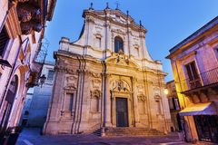 St Irene Church em Lecce fotos de stock royalty free