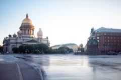 St Isaac Cathedral en St Petersburg Imagen de archivo libre de regalías