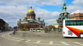 St Isaac Cathedral in Saint PEtersburg stock video