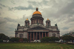 St Isaac Cathedral at twilight, Saint Petersburg, Russia Royalty Free Stock Photo