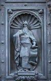 St. Isaac  Dalmatian bronze sculpture Royalty Free Stock Image