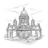 St Isaac Kathedraal royalty-vrije illustratie