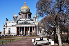 St Isaac Kathedraal in St Petersburg, Rusland Royalty-vrije Stock Foto's