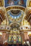 St Isaac Kathedraalbinnenland, Heilige Petersburg, Rusland royalty-vrije stock afbeeldingen