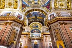 St Isaac Kathedraalbinnenland, Heilige Petersburg, Rusland stock fotografie