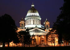 St. Isaac's Cathedral. Famous St. Isaac's Cathedral in St. Petersburg, Russia Stock Photo