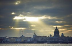 St. Isaac's Cathedral and the Admiralty Stock Images