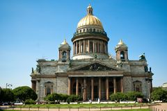 St. Isaac's Cathedral and the Bronze Horseman Royalty Free Stock Photography