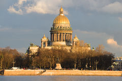 St. Isaac's Cathedral close-up, evening in april Royalty Free Stock Photos