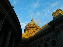 St. Isaac`s Cathedral - the most beautiful monument of architecture of St. Petersburg stock photo