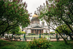 St. Isaac`s Cathedral is the largest Orthodox church in St. Petersburg. Located on St. Isaac`s Square Royalty Free Stock Photography