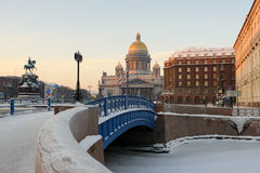 St Isaac's Cathedral located on Saint Isaac's Square, St Petersburg, Russia Stock Photo