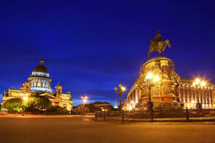 St. Isaac's Cathedral and Monument Stock Photo