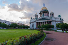 St. Isaac`s Cathedral is the most famous church in St. Petersburg Stock Images