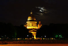 St. Isaac's Cathedral at night. St.Petersburg, Russia Royalty Free Stock Photo