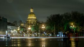 Saint Isaac`s Cathedral. View from the Palace Square stock photos