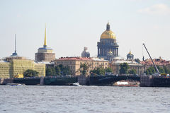 St. Isaac's Cathedral and the Palace Bridge Royalty Free Stock Photos