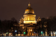 St. Isaac's Cathedral in Saint Petersburg Stock Photo