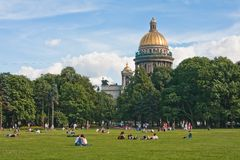 St. Isaac's Cathedral Saint-Petersburg Stock Photo