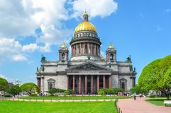 St. Isaac`s Cathedral, Saint Petersburg, Russia stock photography