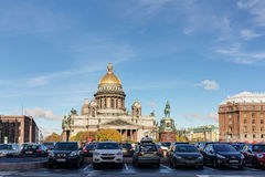 St. Isaac`s Cathedral and Square Stock Photos