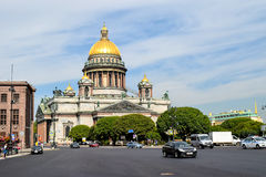 St. Isaac's Cathedral in St. Petersburg.  Stock Photography