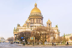 St. Isaac`s Cathedral in St. Petersburg Royalty Free Stock Photo