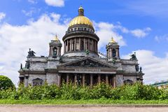 St. Isaac's Cathedral in St. Petersburg, Russia Stock Photos