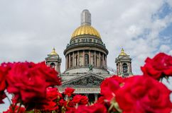 St. Isaac`s Cathedral in St. Petersburg, Russia. Stock Images