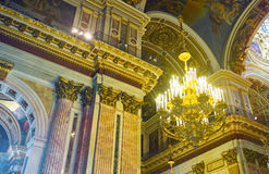 In St Isaac's Cathedral of St Petersburg Royalty Free Stock Photos