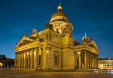 St. Isaac's Cathedral in summer night. Saint-Petersburg Royalty Free Stock Image