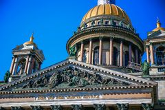 St. Isaac`s Cathedral view summer Stock Photo