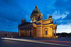 St. Isaac's Cathedral on a white night Stock Photo
