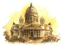 St Isaac ` s katedra w St Petersburg obrazy stock