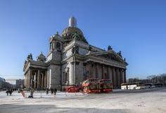 St Isaac ` s katedra w Petersburg Zdjęcie Royalty Free