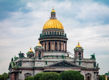 St Isaac ` s katedra w Petersburg, Rosja zdjęcie stock