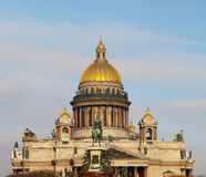 St Isaac ` s katedra w Sankt-Peterburg Obraz Stock