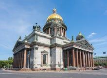 St Isaac ` s Kathedraal, Heilige Petersburg, Rusland royalty-vrije stock foto's
