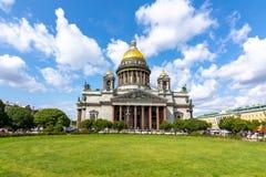 St Isaac ` s Kathedraal, Heilige Petersburg, Rusland stock foto