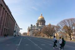 St Isaac ` s Kathedraal in heilige-Petersburg, Rusland royalty-vrije stock fotografie