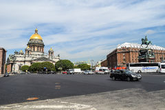 St. Isaac's square in St. Petersburg Stock Photography