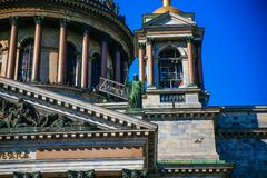St Isaac ` s widoku Katedralny lato Obraz Royalty Free