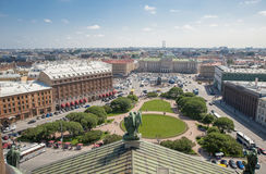 St.ISAAC SQUARE IN SANKT PETERSBURG Royalty Free Stock Photo