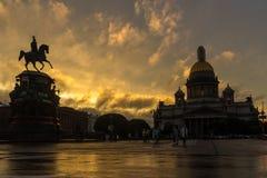 ST Isaac& x27 καθεδρικός ναός του s, Αγία Πετρούπολη, Ρωσία Στοκ εικόνα με δικαίωμα ελεύθερης χρήσης