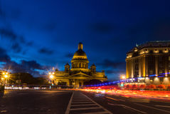 St. Isaac& x27;s Cathedral View from St. Isaac& x27;s Square in St. Petersburg, Russia Royalty Free Stock Image